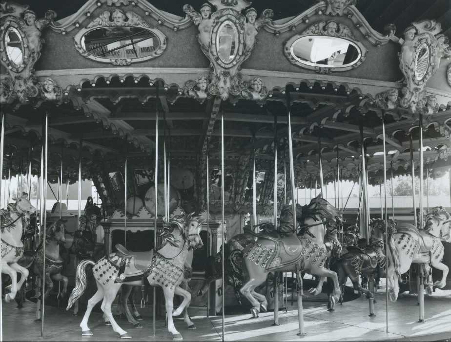 Old Photo Of An Illions Supreme Carousel